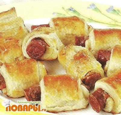 Рецепт Булочки с колбасками