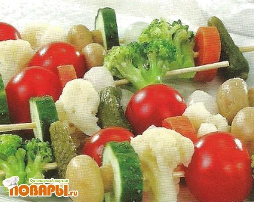 Рецепт Овощные шашлычки