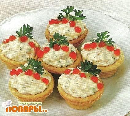 Рецепт Тарталетки с муссом из лосося