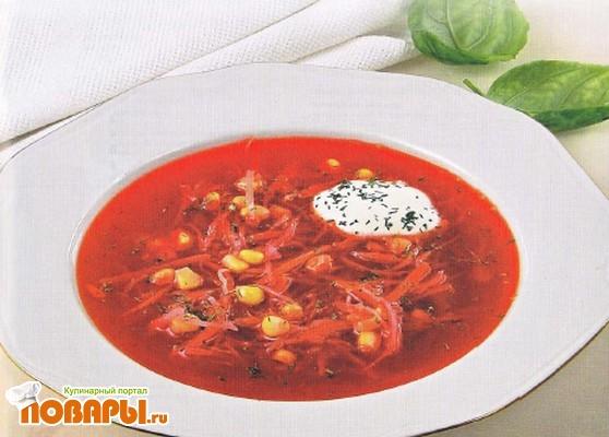 Рецепт Борщ с кукурузой