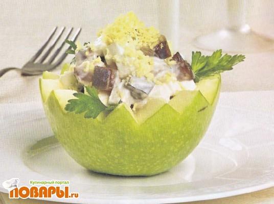 Рецепт Закуска из яблок с сельдью