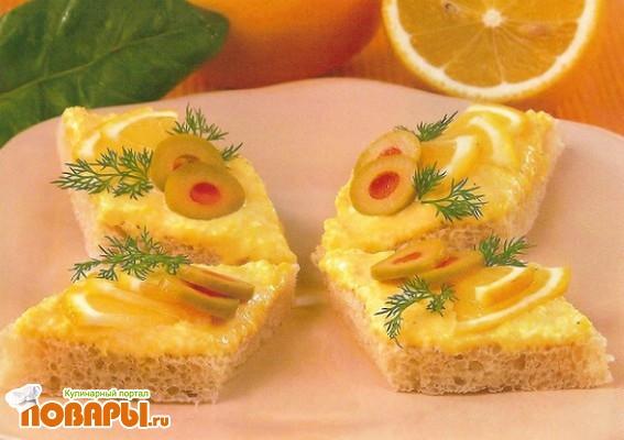 Рецепт Мини-бутерброды с сыром