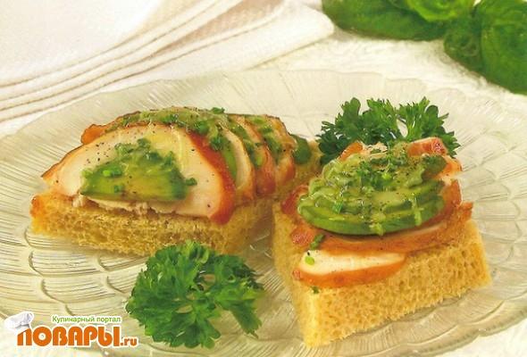 Рецепт Горячий бутерброд с авокадо