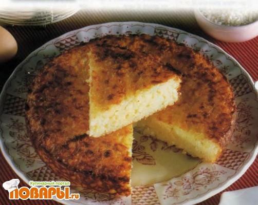 Рецепт Сладкая рисовая лепешка