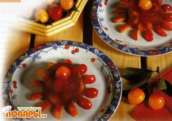 Рецепт Желе с вишневым ликером