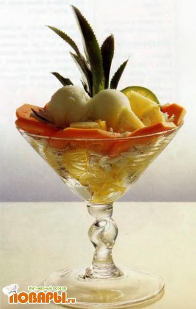 Рецепт Вазочки щербета из лайма