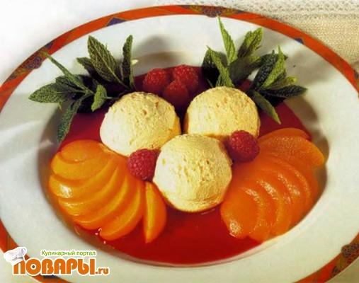 Рецепт Персики с мороженым