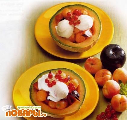 Рецепт Дыни с фруктовым салатом