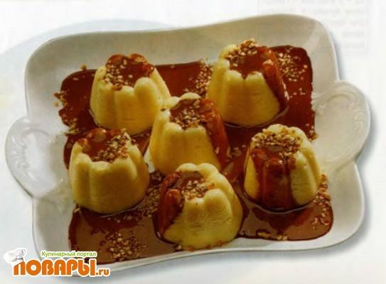 Рецепт Рисовые пудинги с кремом