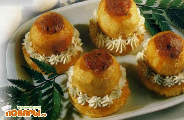 Рецепт Корзиночки с яблоками
