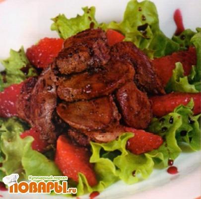 Рецепт Куриная печень по-анжуйски