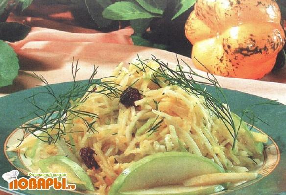 Рецепт Салат из тыквы и яблок