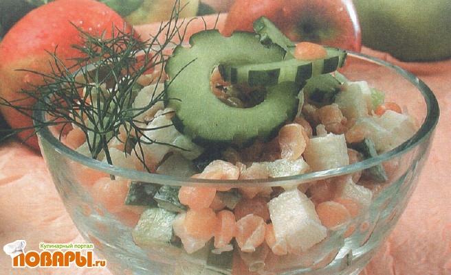 Рецепт Салат гороховый с яблоками