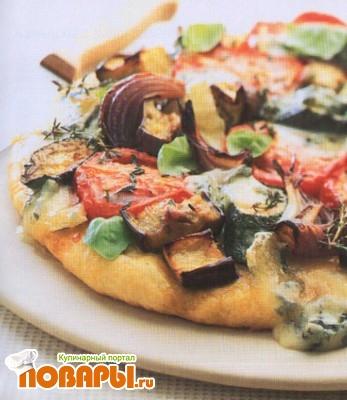 Рецепт Пицца из поленты с запеченными овощами