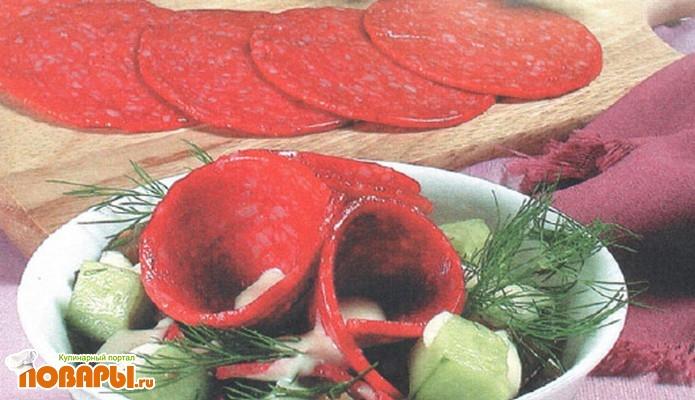 Рецепт Салат из баклажанов и салями