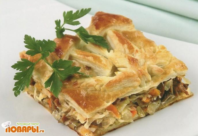 Рецепт Пирог с квашеной капустой