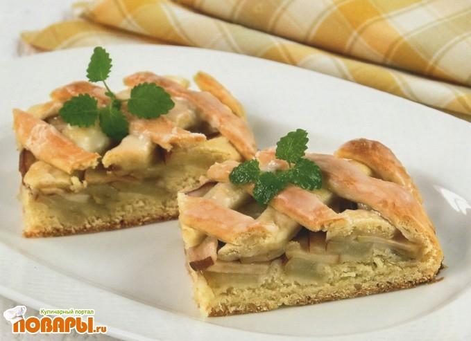 Рецепт Пирог с грушами и яблоками