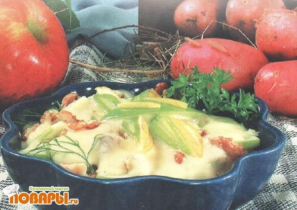 Рецепт Салат картофельный с орехами