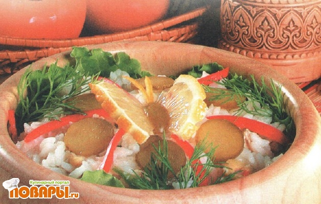 Рецепт Салат рисовый с тунцом и оливками