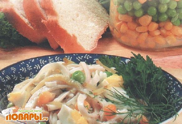 Рецепт Салат с кальмарами и рисом