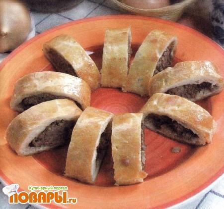 Рецепт Кулебяка с мясом