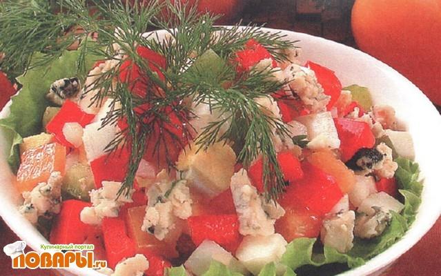 Рецепт Яичный салат со сладким перцем и рокфором