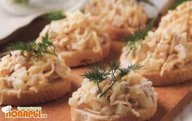 Рецепт Бутерброды с салатом
