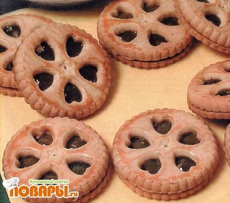 Рецепт Печенье с начинкой из яблочного мармелада