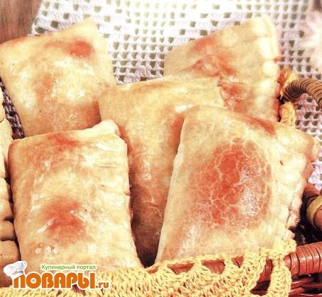 Рецепт Слоеные пирожки с орехами