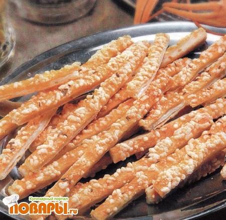 Рецепт Печенье «Соленые палочки» для пива