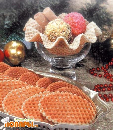 Рецепт Вафли новогодние