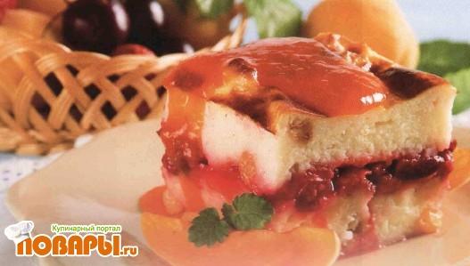 Рецепт Запеканка манная с ягодами