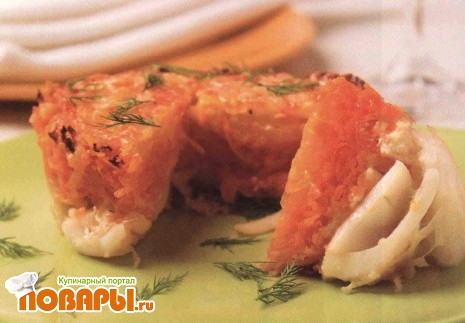 Рецепт Кальмары, запеченные с овощами