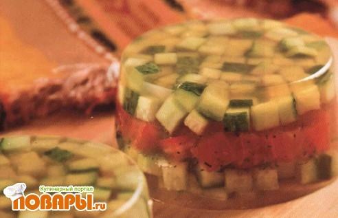 Рецепт Желе овощное