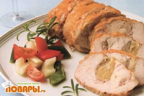 Рецепт Свинина с сыром и лимоном