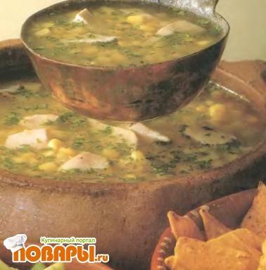 Рецепт Острый куриный суп с чилли