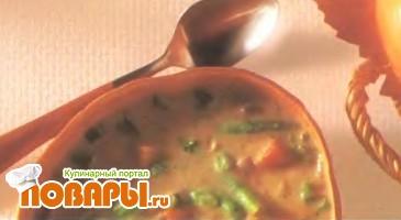 Рецепт Суп из индейки с орехами