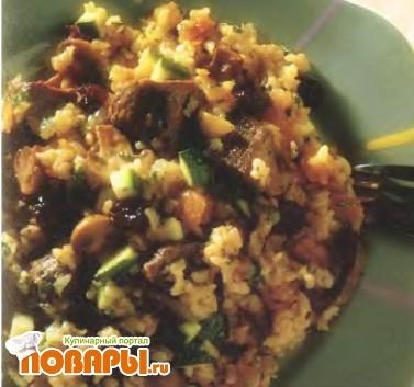 Рецепт Плов из молодого барашка с абрикосом и изюмом