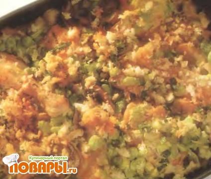 Рецепт Курица, запеченная с лапшой