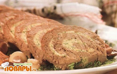 Рецепт Печеночный рулет с петрушкой