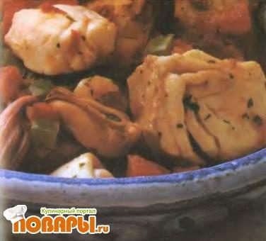 Рецепт Тушеная рыба по-португальски