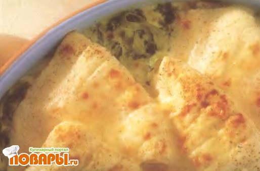 Рецепт Камбала с тальятелле по-флорентийски