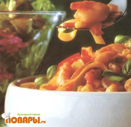Рецепт Креветки с тальятелле в пиве