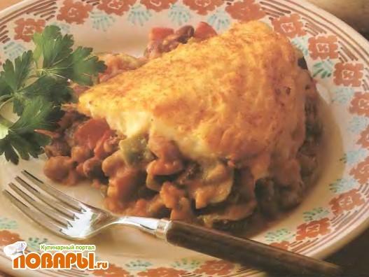 Рецепт Фасолевая запеканка с картофельным кремом