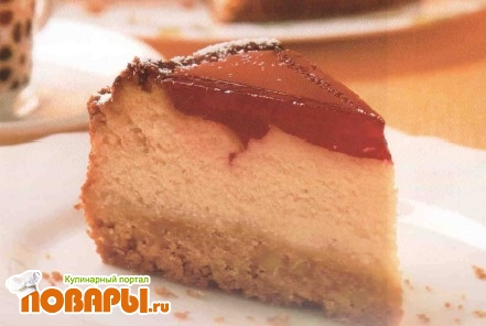 Рецепт Творожный торт с вишней и белым шоколадом