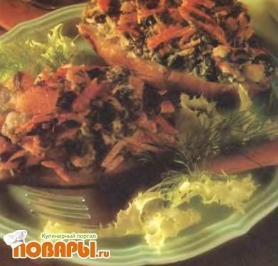 Рецепт Картофель в мундире, фаршированный крабами