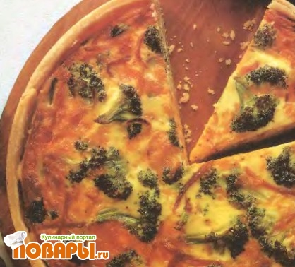 Рецепт Пирог с начинкой из брокколи и ветчины