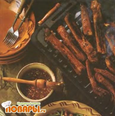 Рецепт Жареные свиные ребрышки