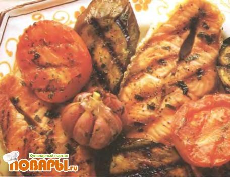 Рецепт Рыба с овощами по-средиземноморски