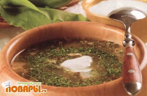 Рецепт Щи зеленые с крапивой